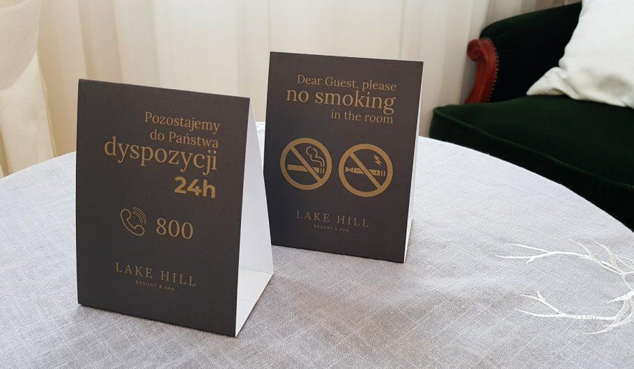 druki dla hoteli_resort&SPA_ LAKE HILL