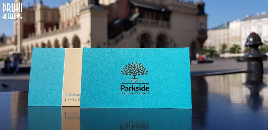 złocone wizytówki_ wizytówki z hot stamping_druki dla hoteli