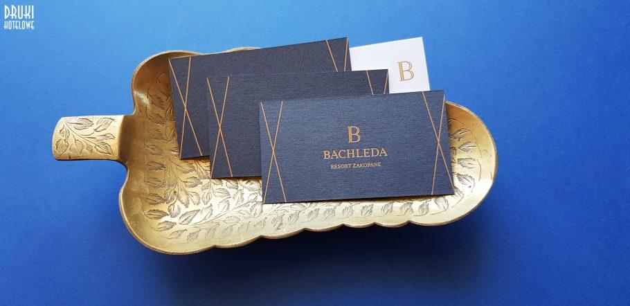 luksusowa wizytówka ze złoceniem, Bahleda hotel resort zakopane