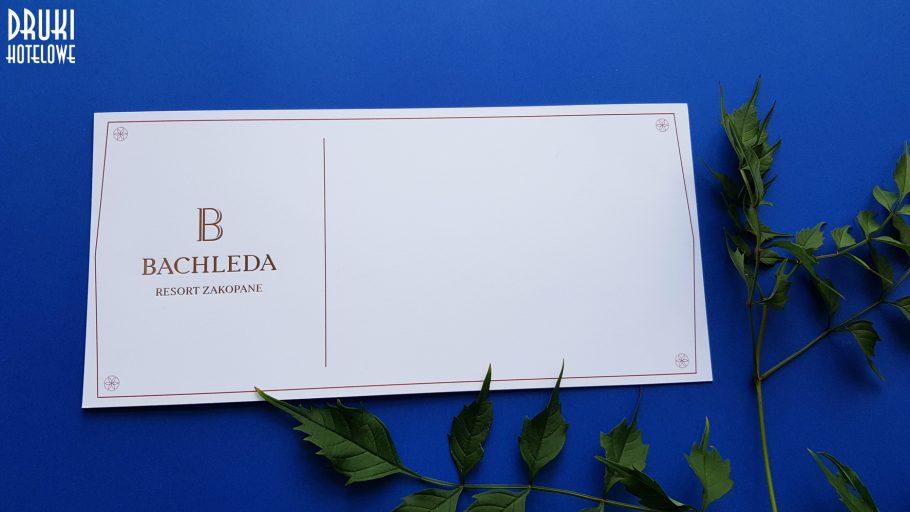Hotel Bachleda Zakopane, Resort & Spa, komplimentka, druki dla hoteli
