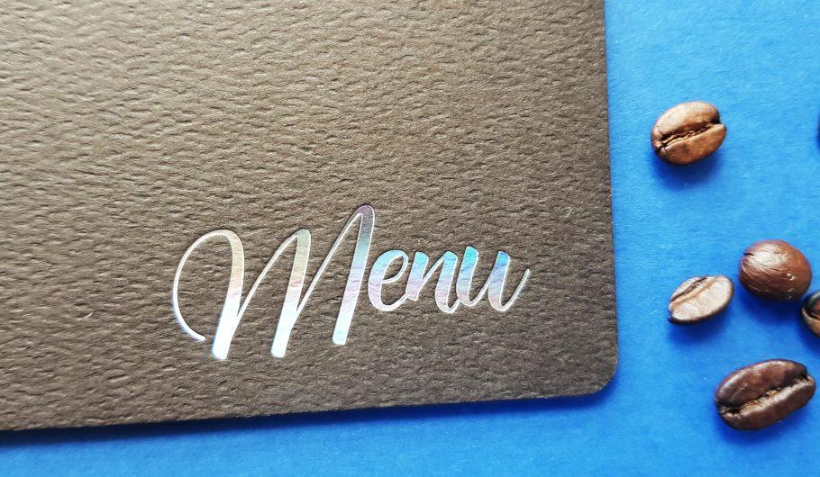 Menu dla restauracji - projektowanie i druk