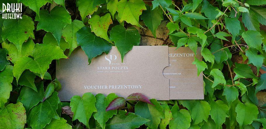 voucher DL, kartony eko, druk na ekologicznych kartonach kraków