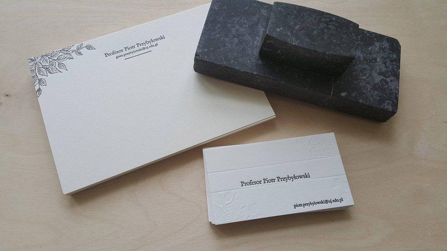 Wizytówka Premium Letterpress