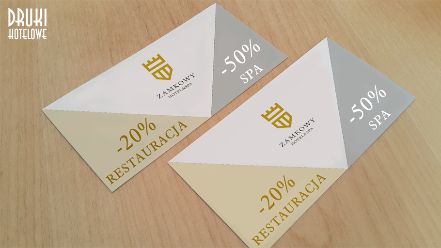 druk kart lojalnosciowych, karta z odrywanym kuponem