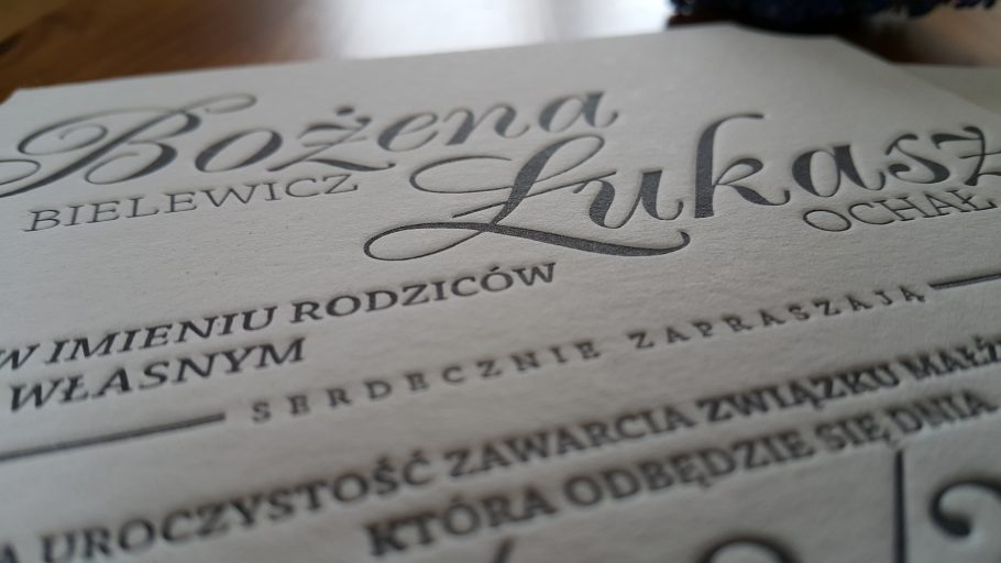 letterpress krakow_ekskluzywne zaproszenia slubne