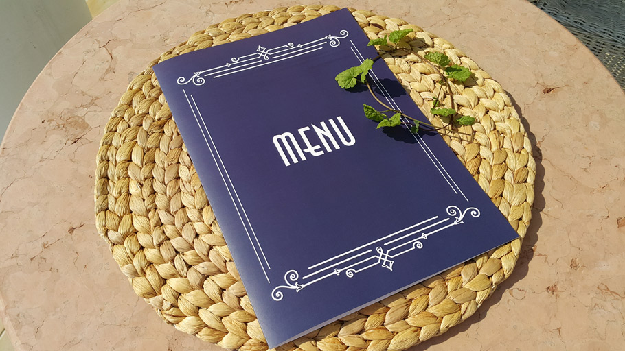 menu z folia matowa_druki restauracyjne