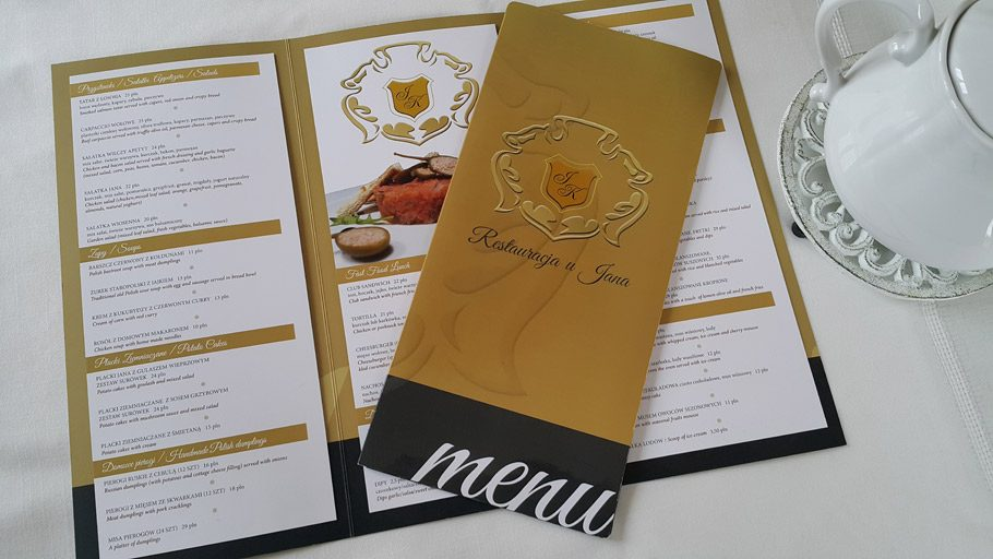 druki restauracyjne_druk menu krakow_druki hotelowe