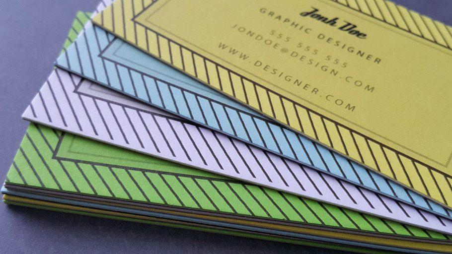 Wizytówki premium artystyczne na kartonach kolorowych TRIPLEX