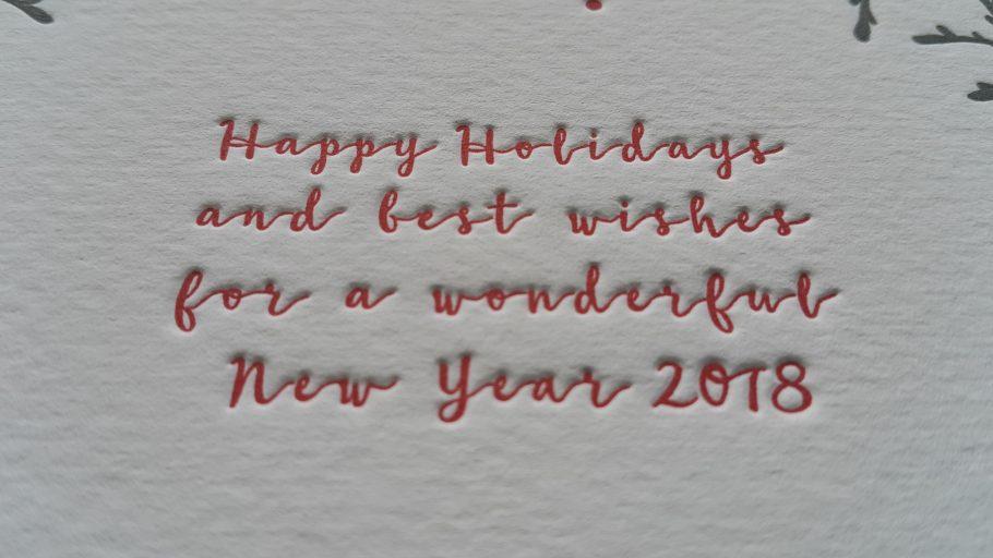 druk letterpress- christmas cards