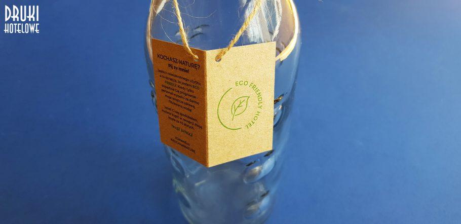 zawieszka eko na butelkę_ druki dla hoteli_papier eko